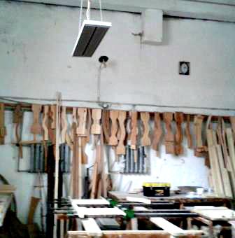 Опалення цеху деревообробки